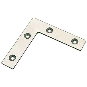 PROCP075 - 20 x Corner Plate 75mm Zinc Plated with screws