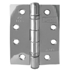 G11102PC - 2 x 102 x 76 x 2.7mm Twin Ball Bearing Hinges Polished Chrome, 1 hour fire tested & Screws