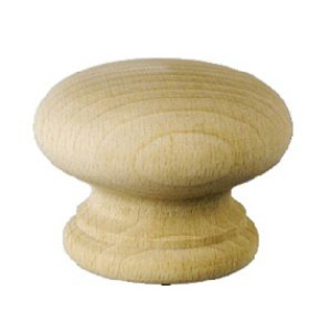 PROBK044 - Beech Cupboard Knob 45mm with screws