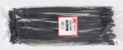 T100B - 100 x Black Cable Ties 100 x 2.5mm