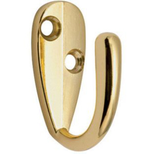 Single Robe Hooks with screws 3 Finishes