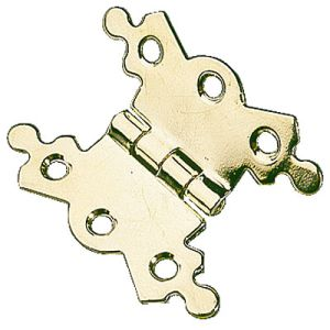 probfh119 butterfly hinges 2 18 brass plated project pack of 2 hinges with screws - Decorative Hinges