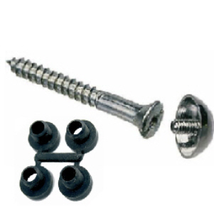 Mirror Screws with Chrome Domes and Protective Washers