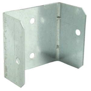 Timco Fencing panel Clips 44 & 50mm Galvanised - Pack of 4