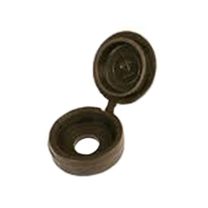 PRO8070 - 100 x Screw Cups & Covers Hinged Brown