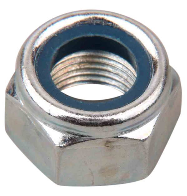 PROLN100 - 100 x M10 Nylon Insert Lock Nuts Zinc Plated