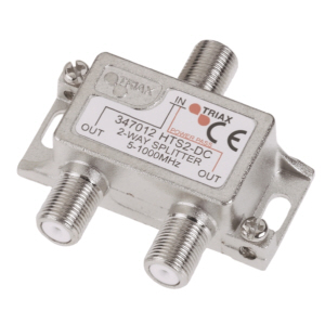 Satellite Splitter 2 Way (5-1000Mhz)-(DC 1 Port)