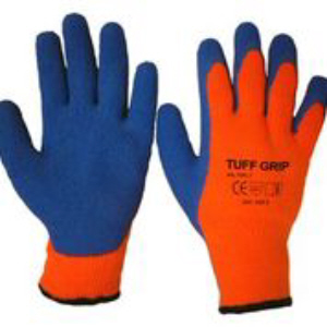 Tuff-Grip Latex Dipped Thermal Gloves, Fleece Lined - Sizes 9 & 10 (L & XL)