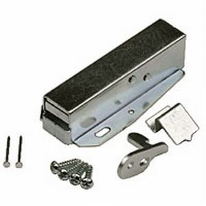 Attic Door Touch Latch Zinc Plated  with screws and instructions