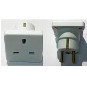 European Travel Adaptor BS8546 Twin Pack