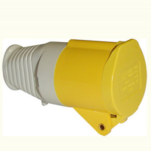 Powermaster Yellow Socket Connector - 16amp - 110v - IP44