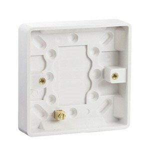 Electrical Pattress Surface Mounted Back Box Single 1gang 16mm deep
