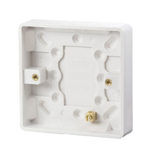 PBS16 - Pattress Box 1 Gang 16mm Surface Mounted  White