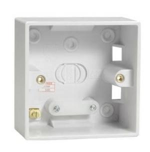 Electrical Pattress Surface Mounted Back Box Single 1gang  47mm deep