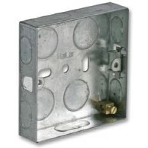 MBS16 - Metal Back Box 16mm Single Flush Mounted