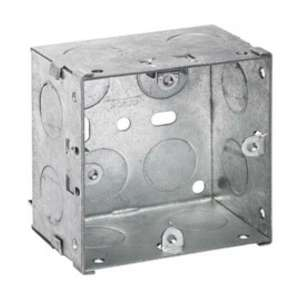 Electrical Metal Back Box, 47mm deep, 1gang for switches and sockets