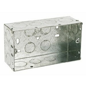 Electrical Metal Back Box, 47mm deep, 2gang for switches and sockets
