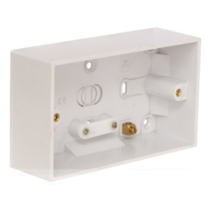 Electrical Pattress Surface Mounted Back Box Double 2gang 47mm deep