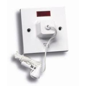Powermaster Ceiling Shower Switch Pullcord- Neon - 45 Amp