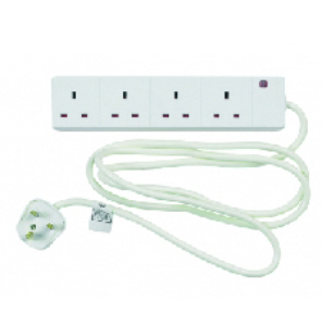 Status Extension Lead 4 Sockets - 2 Metre Flex