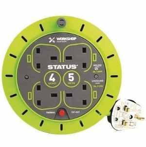 Status Heavy Duty 5m x 13amp Cable Reel with Thermal Cut Out