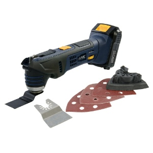 GMC Multi-tool 18v - 1.5Ah Li-ion Battery & Intelligent Charger with Accessories and a Soft Carry  Bag