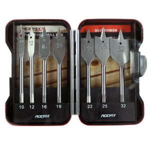 Addax 7pc Flat Wood Bit Set