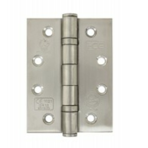 Polished Stainless Steel Fire Door Hinges, Twin Ball Bearing Hinges CE13 - 100mm