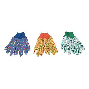 Silverline Floral Garden Gloves Medium - 3 Pairs