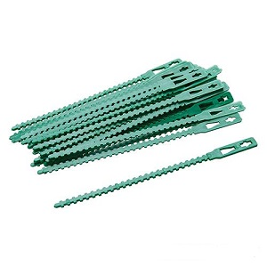 Silverline Adjustable Garden Plant Ties 135mm - Pack 30