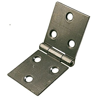 "PROM502 - 2 x  2"" (50mm) Back Flap Hinges Self Colour & Screws"