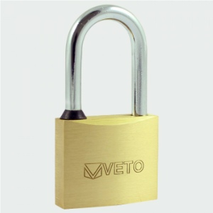Veto Brass Long Shackle Padlocks
