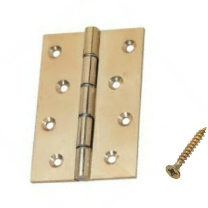 Polished Brass Butt Hinges DSW 100mm