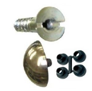 Mirror Screws, Brass Domes and Protective Washers