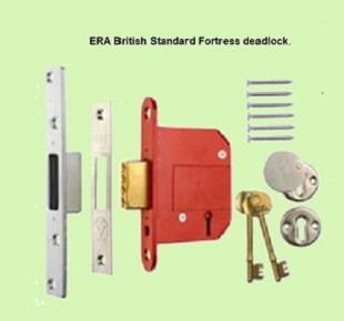 BSDEAD64SC - 64mm Era Fortress BS3621 Dead Lock 5 Lever Satin Chrome