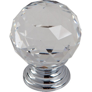 Clear Crystal & Polished Chrome 30mm - Pack 1