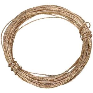 Picture Wire Multi Strand 3.5m Brass Plated