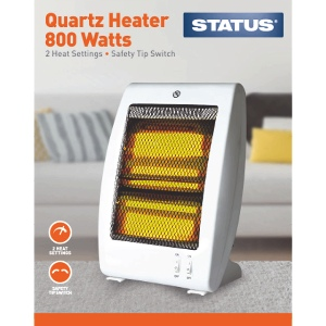 Status Quartz Heater 800w White - 2 Heat Settings