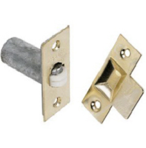 PRO35007 - Adjustable Roller Cupboard Catch 19mm Brass Plated with screws