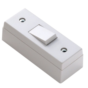 Status Architrave Switch & Pattress Box White - 1 gang