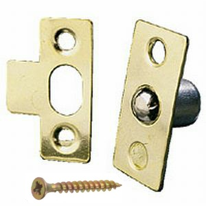 Bales Cupboard Catch 19mm Brass Plated - with screws