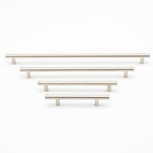 Cabinet T bar Pull Handle, Brushed Nickel