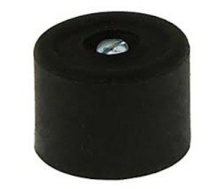 PRODS294 - Large Black Doorstops 33 x 22mm - fixings included - Bag 3pcs