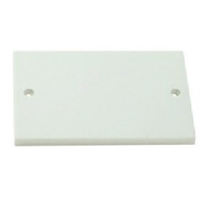 Back Box Blanking Plates Double White - 2 gang
