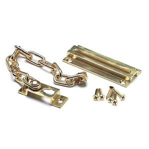 DC12112 - Door Security Chain, Brass Plated, fixings included