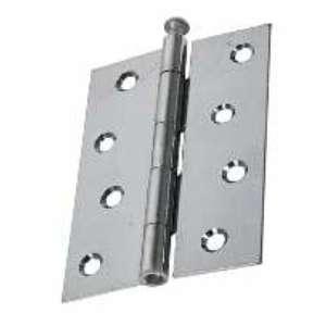"""Door Hinges, Steel Butt, Loose Pin 1840 100mm (4"""") Satin Chrome"""