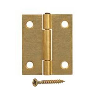 Door Hinges, Steel Butt, Brass Plated - 50mm