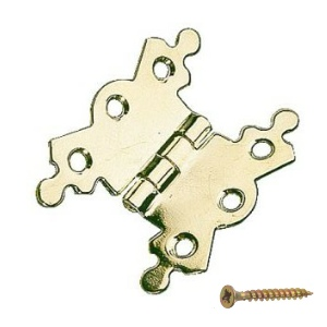 "Butterfly Hinges 2-1/8""  Brass Plated - 1pair with screws"