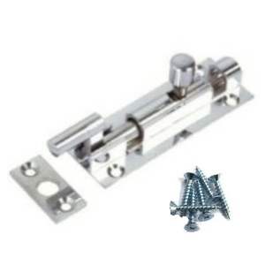 Chrome Necked (Cranked) Door Bolt