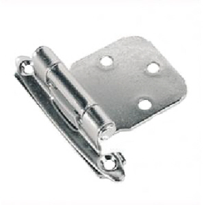 BC050C - 2 x Cabinet Hinges Self Closing Chrome Plated with screws